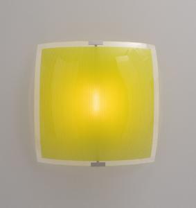 Plafoniera quadrata SAMBA 50 LED arancio,giallo,verde,marrone