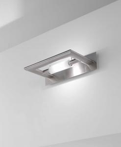 Applique ZOE lampada a parete nichel spazzolato | R7s