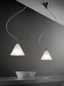 Lampada sospensione MODI' LED 1 luce | E14 cromo o nichel