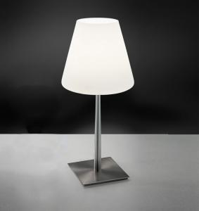 Lampada da tavolo o comodino in vetro soffiato bianco - Lampada da comodino ikea ...