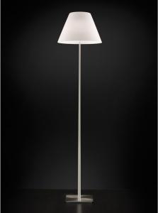 Lampada terra QUEEN con vetro bianco doppio luce E27|R7s