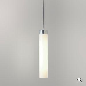 Lampada sospensione da bagno Kyoto con vetro bianco IP44