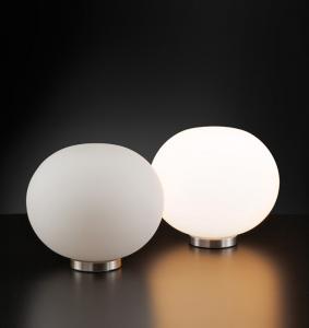 Lampada tavolo MAGIA vetro bianco latte E27 | lampadina LED