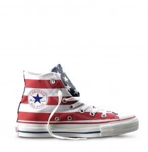 Converse Chuck Taylor alta- Bandiera USA 626573c63f93