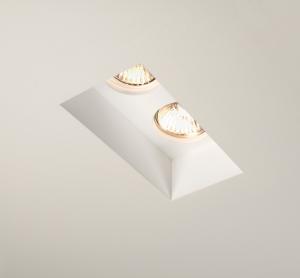 Faretto quadrato da incasso blanco singolo in gesso - Specchi ingranditori illuminati ...