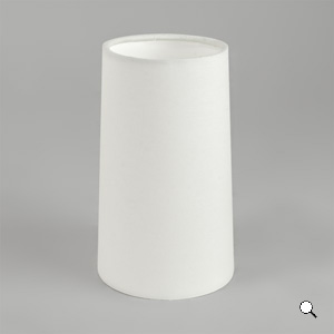 CONO 240 paralume tessuto cono bianco