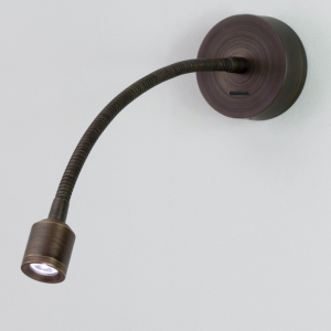 FOSSO LED bronzo lampada da lettura con interruttore