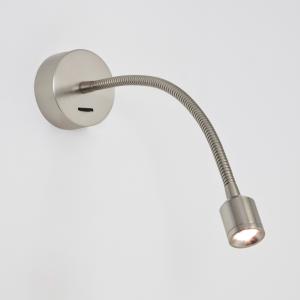 FOSSO LED nichel lampada da lettura con basetta