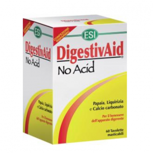 DIGESTIVAID NO ACID 60TAV SUPPLEMENT to FAVOUR the PHYSIOLOGICAL FUNCTIONS of the digestive system and combat acidity and heartburn