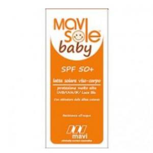 MAVISOLE LATTE SOLARE 50+ BABY PROTEZIONE ALTA AD AMPIO SPETTRO NEI CONFRONTI UVB/UVA/IR