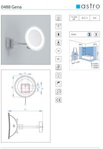 Gena specchio tondo da bagno ingranditore con luce citylux - Specchio ingranditore con luce ...