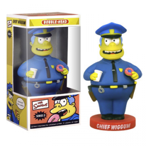 Simpson Chief Wiggum Commissario Winchester bobble head figure 15 cm Funko serie 3