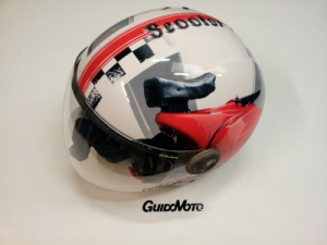 Casco vespa helix iv red rally tg s