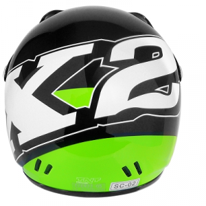 Casco cross bimbo fashion X2 nero/verde SIZE YM