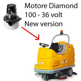 Diamond 100 - 36 volt Motore aspirazione AMETEK lavapavimenti Adiatek New Version