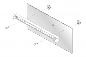 KIT 2 adattatore per specchio
