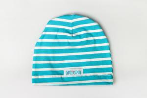 Righe Azzurre - Cappello classico in cotone