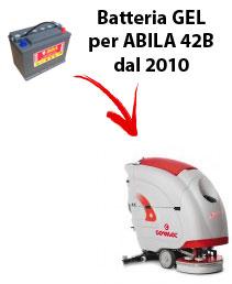 BATTERIA per ABILA 42B lavapavimenti COMAC DAL 2010