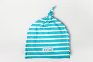 Cappello 1 Nodo Azzurro Righe