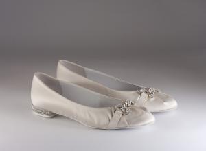 Ballerina donna elegante da sposa e cerimonia  in tessuto di raso con applicazioni in cristallo svarovsky Francesco cod.7012 5079