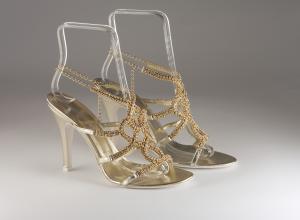 Sandalo gioiello cristalli svarovsky donna elegante da sposa e cerimonia Carlo Pignatelli cod.16Z4332