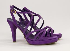 Sandalo pelle scamosciata elegante da cerimonia donna con cinghietta regolabile Art. 6131 Bressan