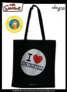 Simpson borsa spesa in tessuto I Love Springfield