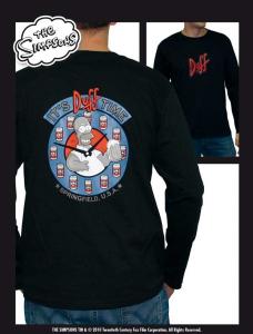 Simpson It's Duff Time Maglia T-Shirt adulto manica lunga cotone Originale