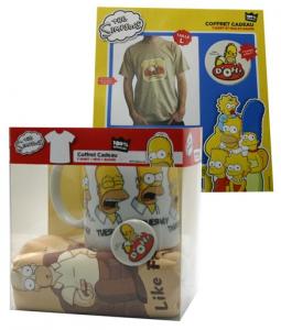 Simpson gift pack tazza spilla T-Shirt adulto manica corta nuova cotone