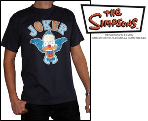 Simpsons Maglia Krusty Clown Joker T-Shirt manica corta nuova cotone