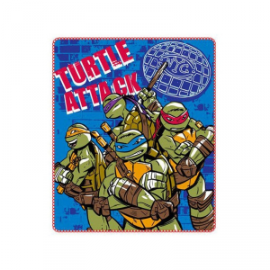 Tartarughe Ninja plaid copertina pile 140x120 nuovo originale