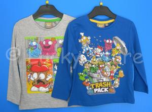The Trash Pack t-shirt maglia manica lunga da 3 a 8 anni nuova originale cotone