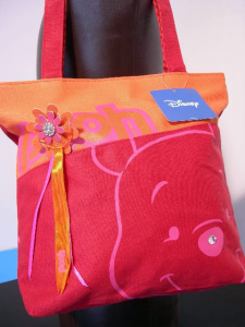 Winnie the Pooh shopper in tessuto con strass