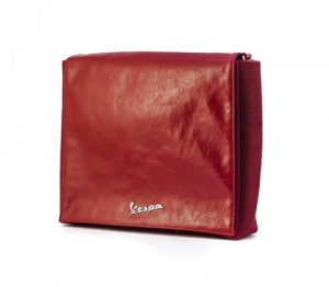 Borsa Eco pelle The World, Vespa e con porta PC. Rossa
