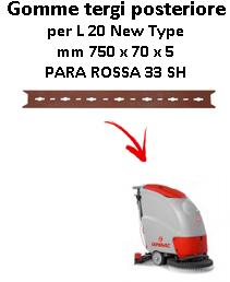L 20 NEW TYPE Gomma tergi posteriore per  lavapavimenti Comac