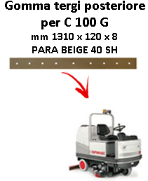 Gomma tergi posteriore per lavapavimenti COMAC - C 100  G