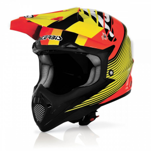 Casco cross ACERBIS in fibra IMPACT WHISHMASTER. Arancio/Giallo. Tg. L