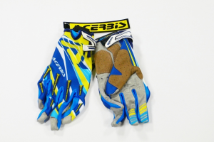 Guanti cross ACERBIS MX 2. Blu/Giallo. Tg. XL