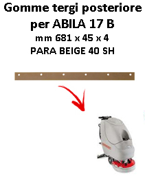 ABILA 17 B GOMMA TERGI posteriore Comac