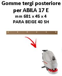 ABILA 17 E GOMMA TERGI posteriore Comac