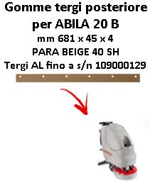 ABILA 20 B GOMMA TERGI posteriore Comac