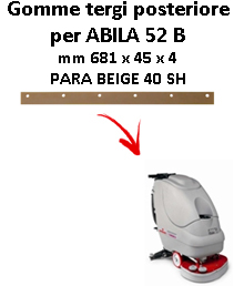 Gomma tergi posteriore per lavapavimenti COMAC ABILA 52 B