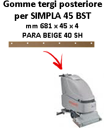 SIMPLA 45 BST GOMMA TERGI posteriore Comac