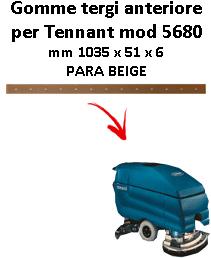 5680 GOMMA TERGI posteriore TENNANT Para Beige squeegee lungo 700