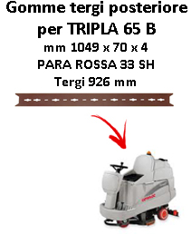 TRIPLA 65 B GOMMA TERGI posteriore Comac