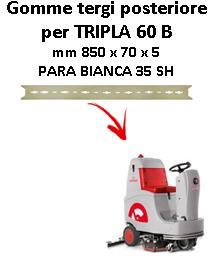 Gomma tergi posteriore per lavapavimenti COMAC - TRIPLA 60 B