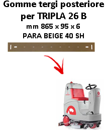 Gomma tergi posteriore per lavapavimenti COMAC TRIPLA 26 B