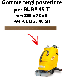 Gomma tergi posteriore per lavapavimenti ADIATEK - RUBY 45 T