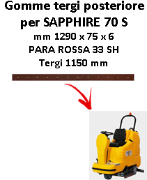 Gomma tergi posteriore per lavapavimenti ADIATEK SAPPHIRE 70 S