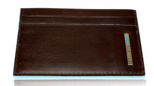 Porta carte di credito Piquadro Blue square PP906B2 Mogano